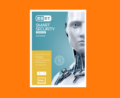 ESET Smart Security Premium 2019 | 3 PC | 1 Year Download/ESD