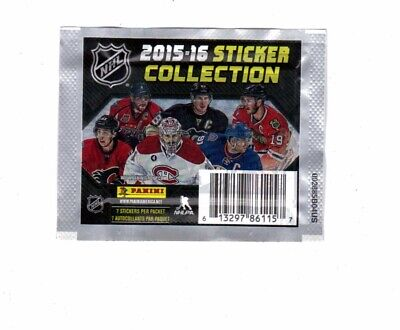 2015-2016 Panini NHL Hockey Sticker Collection 17 Sticker Packets -Sealed