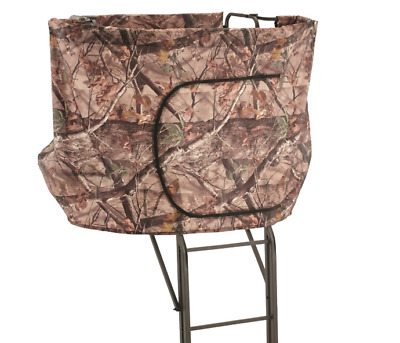 XL 20' 2 Man Tree Stand Hunting Blind Deer Wrap a Round Double Rail Ladder NEW