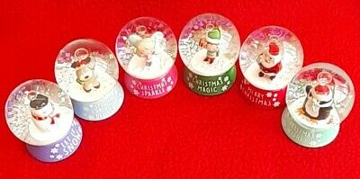 Christmas Mini Snow Globe - Glass - 6 To Choose From - Gift - Brand New