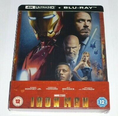 IRON MAN - 4K UHD + 2D BLU RAY ( STEELBOOK - UK EXCLUSIVE ), MARVEL, * In Stock