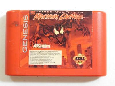 Maximum Carnage (Sega Genesis, 1994) RED VERSION CLEANED TESTED GAME ONLY