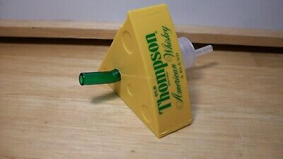 Green Bay Packers Old Thompson American Whiskey Cheese Head Hat Pourer~EUC