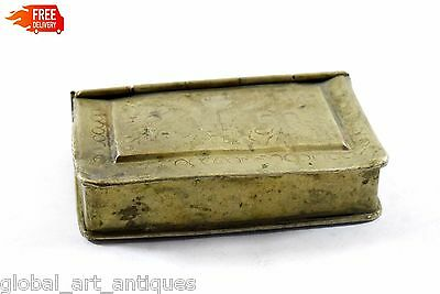 Vintage Rich Patina Hand Crafted Brass Collectible Betel Nut Box. G7-668 US