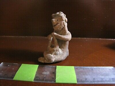 Pre Columbian, Pottery, H2O2 Tested, Colima, Smiling Peyote Vendor, 300 - 200 AD