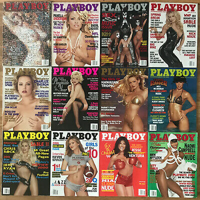 Playboy Magazine 1999 Complete Year Lot 12 Issues All With Centerfolds