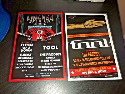 Chicago Open Air shows mini-promo flyers_TOOL_System of A Down_Ghost_Prodigy