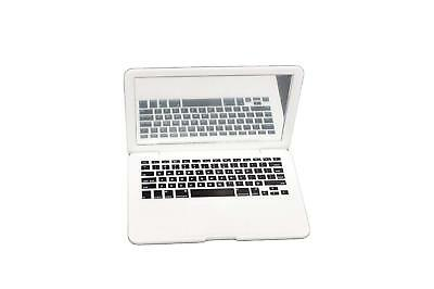White Laptop Computer Fits 18 Inch American Girl Doll Clothes