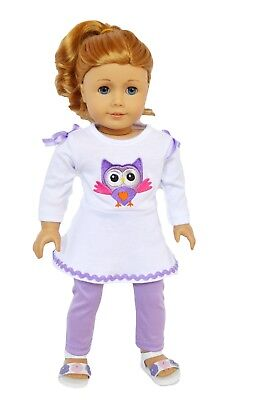 Purple Owl Doll Outfit Fits 18 Inch American Girl Doll Clothes