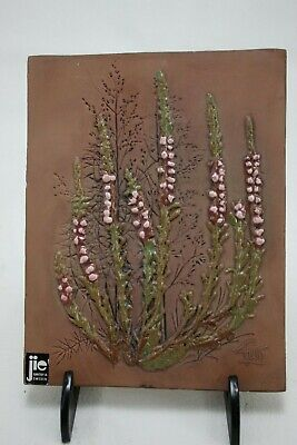 JIE Gantofta Sweden Ceramic Art Tile Wall Plaque 847 Signed Aimo Nietosvuori MCM