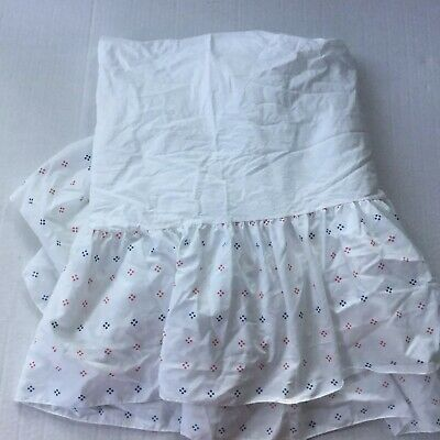 Vintage Dundee Disney Baby Crib Skirt/ Dust Ruffle White/Red/Blue, EUC