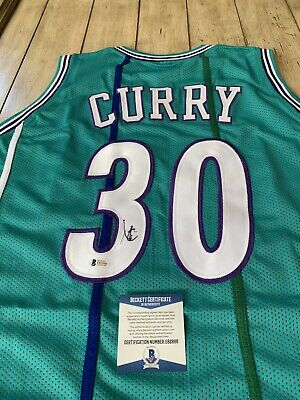 official photos 2c7ff 1808e DELL CURRY SIGNED Autograph Charlotte Hornets Jersey NBA USA ...
