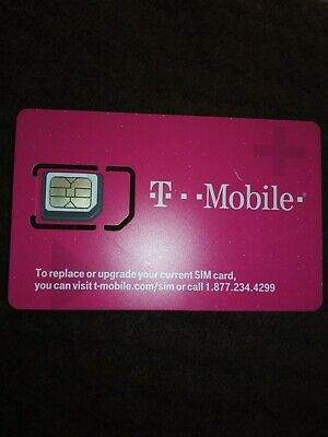 NEW TMobile 4G LTE Sim Card Unactivated.  3 IN 1 TRIPLE CUT SIM. for Replacement