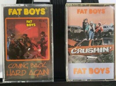 Lot of 2 The Fat Boys Cassette tapes Coming Back Hard Again Crushin' audio