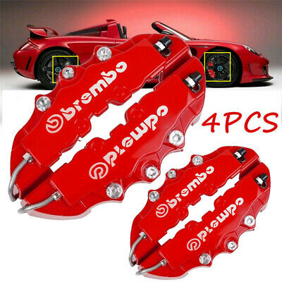 4Pcs Blue Disc Brake Caliper Covers Parts Front Rear 3D Cars Parts Truck Set