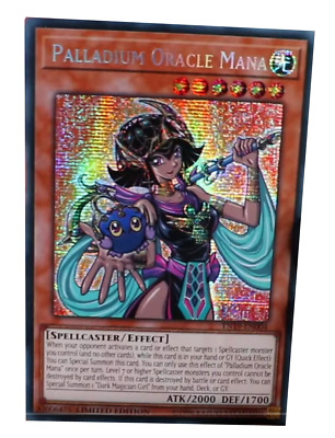 Palladium Oracle Mana Prismatic Secret Rare TN19-EN004 NM Yugioh Ships Aug 29th