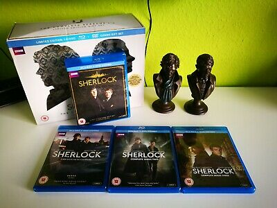 Sherlock Complete Seasons 1-3 Limited Edition Gift Set - BluRay & DVD