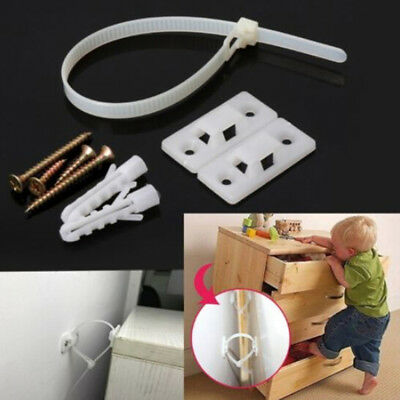 BabySafety anti-tip straps for flatTV and furniture wall straplock protectionsLU