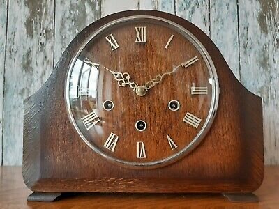 Vintage Smiths Chiming Clockwork Westminster Mantle Clock
