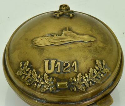 vintage pocket watch protector brass case.Skull and bones.78mm