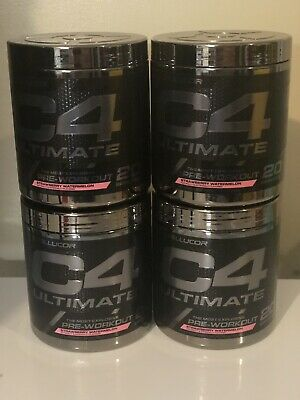 **CLUMPY*4 Cellucor C4 Ultimate 20 Ser Strawberry Watermelon Pre-Workout Energy