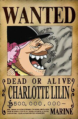 POSTER - ONE Piece - Wanted Big Mom - 52 x 35 cm - ABYstyle - EUR 5,75    PicClick FR