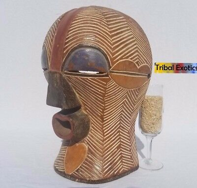AUTHENTIC Songye Kifwebe Helmet Mask Figure Sculpture Statue Fine African Art