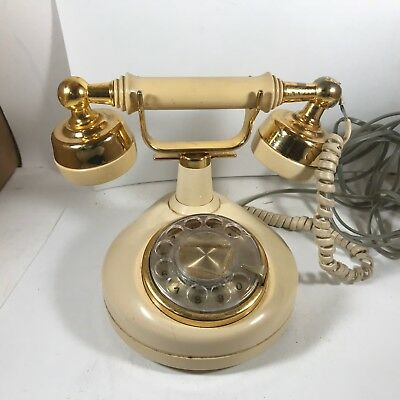 Vintage Princess Rotary Dial Telephone Beige Western Electric Tested Working