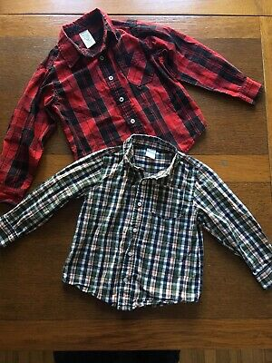 Toddler Boys Button Down Collar Shirt Lot of 2, 4T Gymboree Faded Glory
