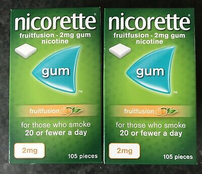 NICORETTE FRUITFUSION 2MG Pack Of 105 X 2 =210 Pieces EXPIRY DATE 03/2022