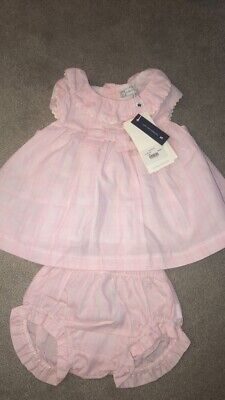tutto piccolo baby girl Dress Knickers Outfit BNWT RRP £53 Age 3-6 Months