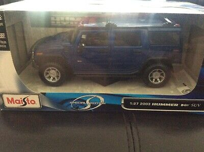 Maisto 2003 Hummer H2 SUV Special Edition GM 1/27 Scale Die Cast New In Box