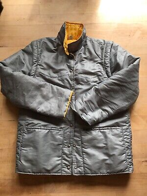vintage lee cooper coat grey and yellow size 12 removeable sleeves great conditi