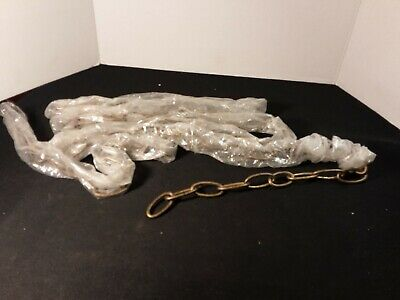 Vintage Antique Chandelier Chain Mottled Brass Look New Old Stock Over 9 Feet