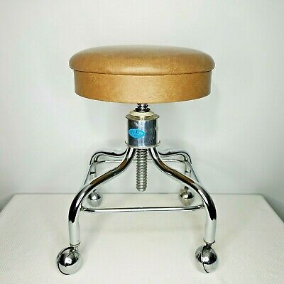 Magnificent Vintage Pedigo Rolling Stool Tan Tattoo Medical Dentist Gamerscity Chair Design For Home Gamerscityorg