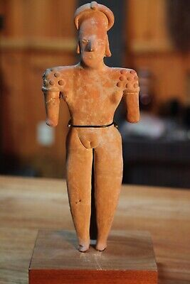 Pre Columbian Pottery Figure of Standing Woman