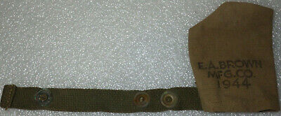 original WWII US Muzzle Cover Dated 1944 M1 Rifle or Carbine EA Brown Mfg. Co.