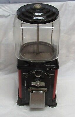 VINTAGE Victor Topper Glass Globe 1 Cent Nuts / Candy Machine 1950's Good