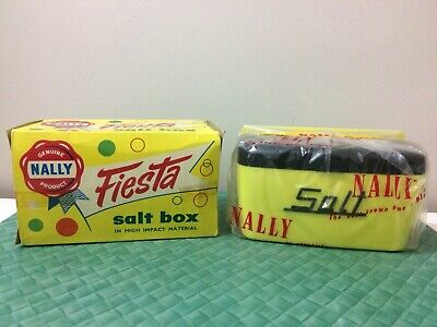 Vintage Nally Kitchen Canister ,Nally Ware ,New Old Stock Original Box , 50s