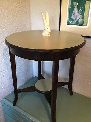 Lovely Antique Round Ocassional/Side/Hall/Plant Table-Mahognay #4940