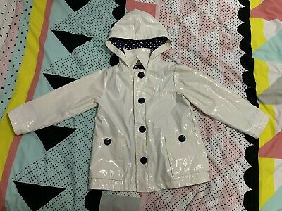 Next Raincoat 5-6 Girls White Polka Dot