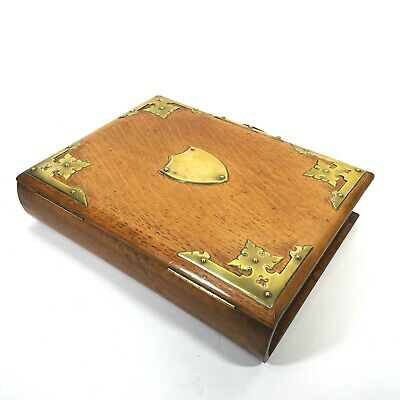 Good Late Gothic Revival Victorian Oak Book Writing Box