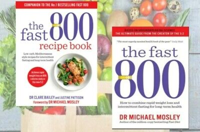 The Fast 800 Recipe Book Low-Carb Mediterranean  + Fast 800 Diet SEE DETAILS