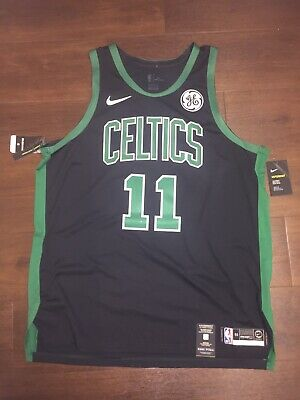 new product 0468e c5870 NIKE AUTHENTIC BOSTON Celtics Kyrie Irving Road Green Jersey ...