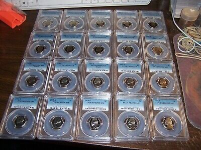 (Lot Of 20) Pcgs Pr 69Dcam 5C Coins-Mini Collection No Duplicates-Fresh #123Ab