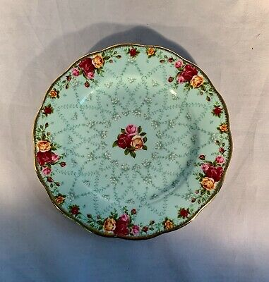 Royal Albert Old Country Roses-Peppermint Damask-Salad/Luncheon Plate-8""