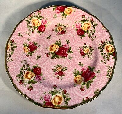 Royal Albert Old Country Roses-Dusky Pink Lace-Salad/Luncheon Plate-8""