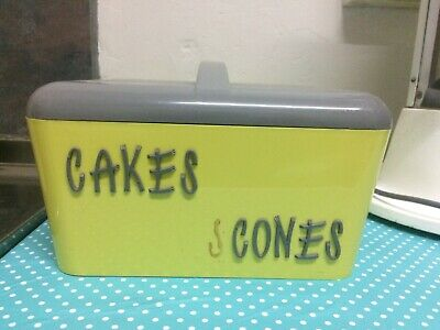 Vintage Gay Ware , Gayware Kitchen Canister Cake Scones 50s  60s Retro