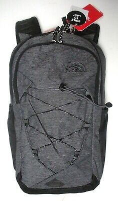 The North Face Womens Jester Backpack- Laptop Sleeve-A3Kv8- Black Heather/Silver