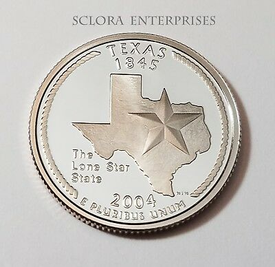 2004 S Texas  *90% Silver Proof*  State Quarter   **free Shipping**